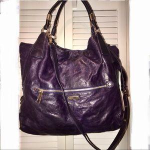 Rebecca Minkoff Leather Eggplant Purse/Xbody $499